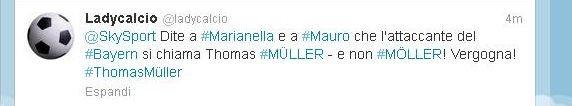 Twit SkySport Thomas Müller
