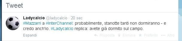 Twitter su Mazzarri