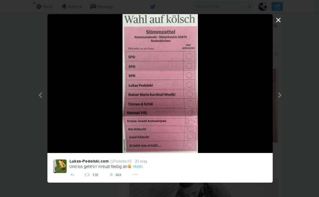 Scheda elettorale Podolski