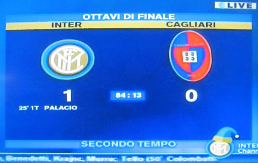 Schermata Inter-CA 1-0